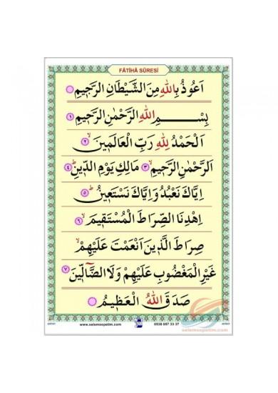 Kur'an'a Geçiş - Fatiha Suresi - Saten Kumaş