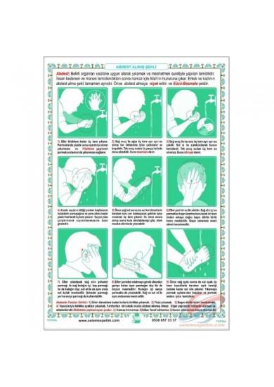 Abdest Alınış Şekli Posteri