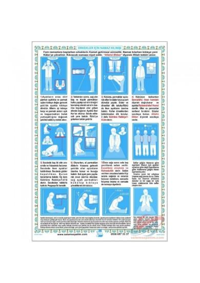 Erkekler İçin Namaz Kılınışı Posteri