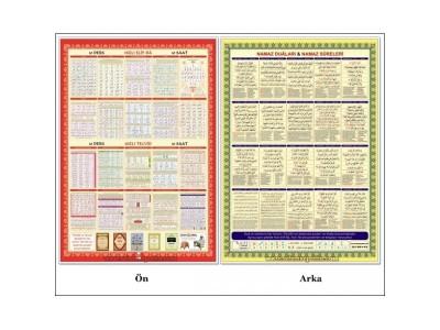 Toplu Elif-ba - Tecvit ve Dua Posterleri - Selefonlu Karton