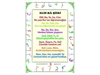 Yaz Kursu Elif-Ba Şiiri - Saten Kumaş